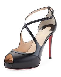 christian louboutin mira bella leather red sole sandal black