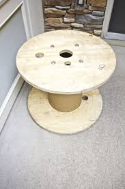 wire spool table plant stand zero dollar diy challenge 2 bees
