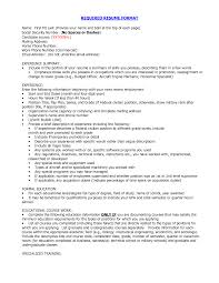 Sample Form Of Resume by Select Template Left Justified Updated Sample Of Resume And