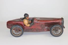 vintage bugatti race car vintage large racing bugatti model with driver with provenance for