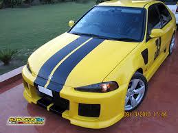 honda civic modified yellow honda civic 1995 body kit u2013 wallpapers gallery