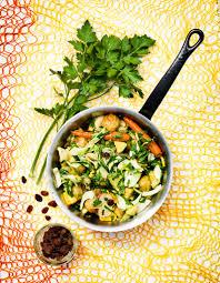 cuisiner les patissons curry de légumes et de pâtissons pour 4 personnes recettes à