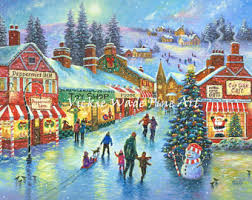 christmas village etsy