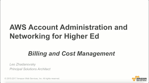 aws billing and cost management for education youtube