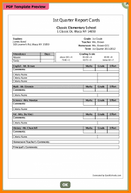 blank report card template high school report card template experimental gallery sho o r