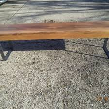 Wood Bench Metal Legs Metal Benches Steel Benches Custommade Com