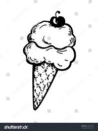 ice cream clipart ice cream cone cherry retro clipart stock vector 100742455