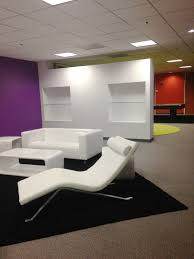 free standing temporary wall partition in white finished made of