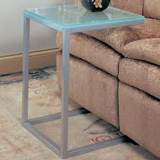 Table Under Sofa by Shiny Snack Table With Grey Iron Frames Combined Glass Table Top