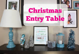 Turquoise Entry Table by Decorating Cents December 2014