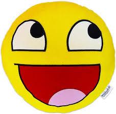 Awesome Face Meme - moodrush awesome smiley epic face plush cushion throw pillow meme