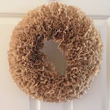 coffee filter wreath tutorial u2014 the other side of neutral