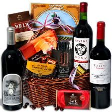 wine and chocolate gift basket exquisite wine and chocolate gift baskets