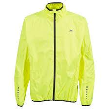 mens lightweight cycling jacket trespass grafted mens cycling jacket waterproof hi visibility