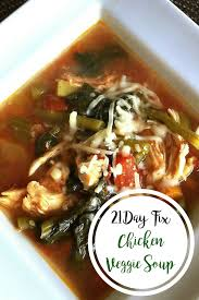easy 21 day fix chicken veggie soup stovetop instant pot slow