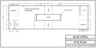 construction site plan site plan aisc asce national steel bridge competition 2016
