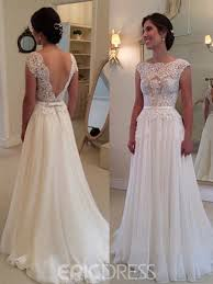 aline wedding dresses ericdress charming backless lace a line wedding dress