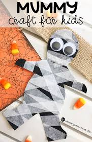 Mummy Crafts For Kids - easy and cute mummy craft for halloween