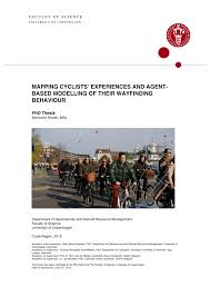 mapping cyclists u0027 experiences and agent based modelling of their