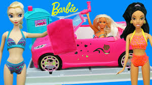 barbie car wash doll parody disney frozen elsa ariel