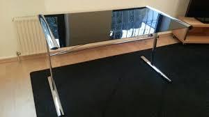 Schreibtisch Glas Gebraucht Glas Schreibtisch Schwarz Chrom In 65719 Hofheim Am