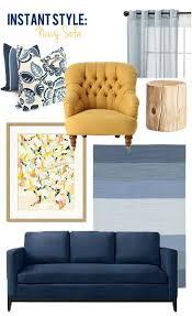 navy and mustard yellow throw pillows set of 3 decor