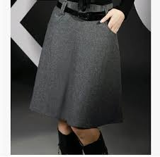 Wool Skirts For Winter Aliexpress Com Buy New 2017 Autumn Winter Blended Wool Skirt