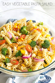 salad pasta easy vegetable pasta salad with roasted red pepper italian dressing