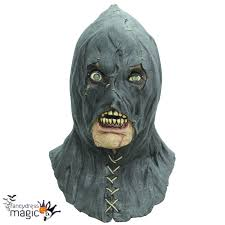 horror halloween costumes torturer executioner black hood grim reaper latex horror halloween