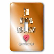 eighth anniversary gift 3drose 8th wedding anniversary gift bronze celebrating 8 years