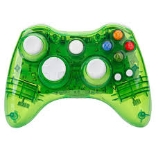 new green afterglow wireless game controller for microsoft xbox