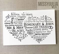 25th wedding anniversary gifts wedding ideas best of 25th wedding anniversary gift ideas for