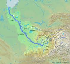 Aral Sea Map Oxus River Illustration Ancient History Encyclopedia