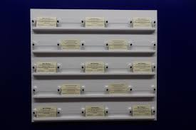 business card holder 25 white display wall mount bell plastics