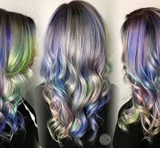 silver blonde haircolor holographic hair color hair colors ideas