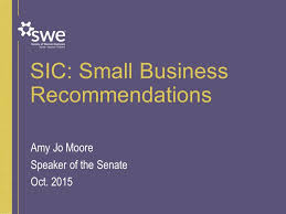 sic small business recommendations amy jo moore speaker of the