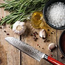 santoku knife 18 cm japanese stainless damascus asian kitchen