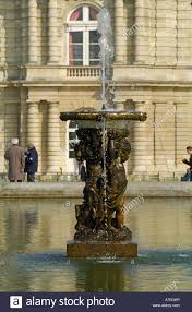 ornamental water in the lake at palais du luxembourg