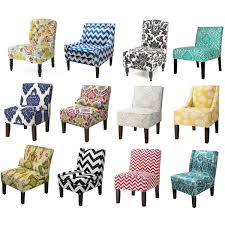 Patterned Upholstered Chairs Design Ideas Home Engaging The Most Contemporary Swoop Arm Accent Chair
