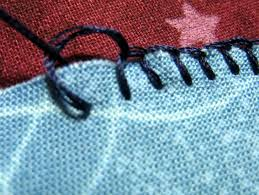 How To Blind Stitch By Hand How To Blanket Stitch An Applique 7 Steps With Pictures