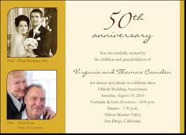 golden wedding anniversary invitations glee prints