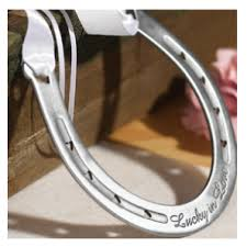 horseshoe wedding favors lucky in horseshoe ring pillows wedding essentials