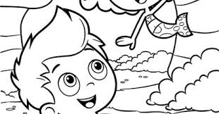 bubble guppies coloring pages colouring kids