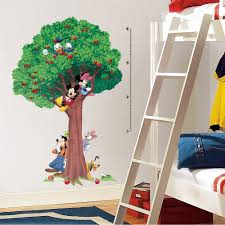 disney mickey mouse tree growth chart wall decals vinyl disney mickey mouse tree growth chart wall decals vinyl room decor stickers ebay