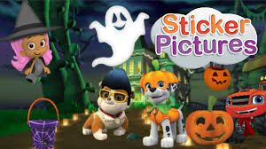 nick jr sticker halloween for kids youtube