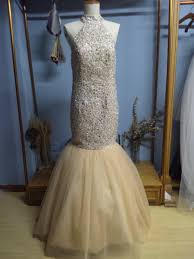 prom dresses for 12 year olds aliexpress com buy halter floor length open back chagne