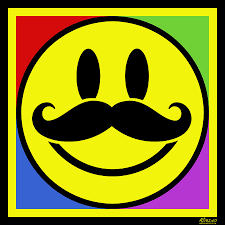 happy thanksgiving smiley face mustache smile painting by tony rubino