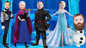 babies disney frozen character funny finger family songs