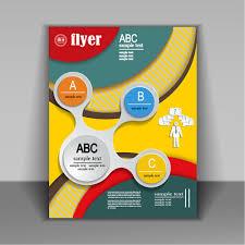flyer design fashion cover brochure with flyer design vector 07 vector cover