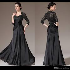 2015 black mother of the bride beach wedding dress v neck lace
